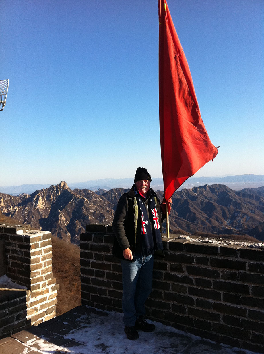 Conference China Wall climb Proud Aussie